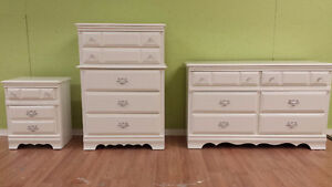 Professionally painted today solid maple 3 piece dresser set