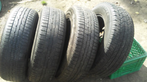 Set of tires and rims 6 bolt gmc