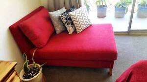 Red Chaise Lounge Couch Sofa Armchair Freedom Furniture Coogee Eastern Suburbs Preview