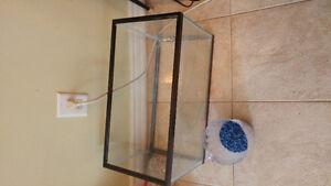 10 Gallon Aquarium with heater, filter, gravel and fish