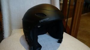 Black DEMON helmet for a teen or young adult