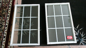 Two glass door inserts