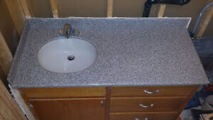 Solid Surface Countertop with build in sink