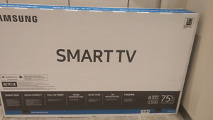 New in the box 75 inch samsung - superbowl special