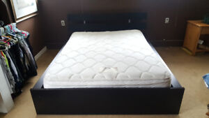 Queen bed frame and mattress for sale