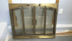 Golden Brass Fireplace Door