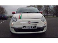 Fiat 500 1.2I LOUNGE Good / Bad Credit Car Finance (white) 2009