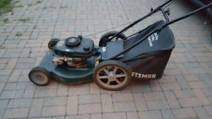 Craftsman 6 HP Lawnmower With Bag.