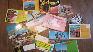 Cartes postales vintages Disney, Vegas et autres en livret