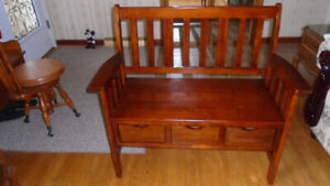 Furniture OAK HALLWAY BENCH - $250