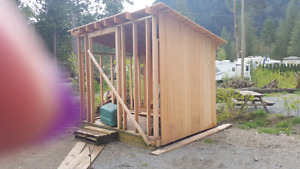 Cedar shed 8x10 partially finished  and 10x10 P.T. Deck $750 obo