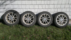 16 BMW rims with snow tires