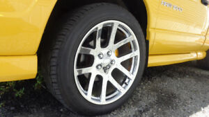 """22"""" Srt10 Factory Reproduction Wheels and Tires for Dodge Ram"""