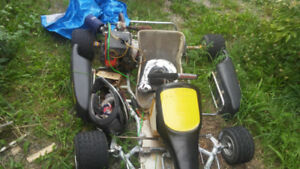 Briggs and Stratton complete go kart with blown motor.