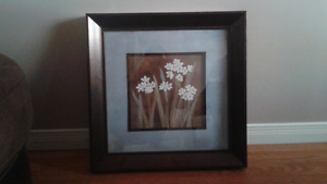 Two large framed picture $ 40 for the set