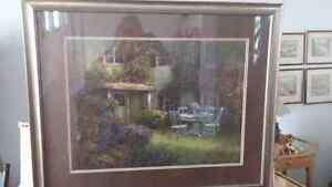 Garden scene beautifully framed print Kingston Kingston Area image 2