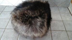 Chapeau fourrure chat sauvage pour femme