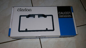 Clarion CAU001 License plate frame for rear-view camera. New