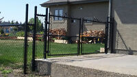 Vinyl and chain link fence