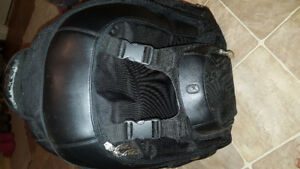 Heavy duty leather moyorcycle riding back pack