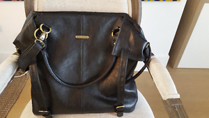 Timi and Leslie 7 piece black diaper bag (barely used)!