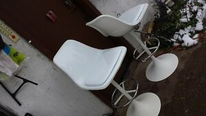 High Back Stools or Chairs Crisp White Strathcona County Edmonton Area image 8
