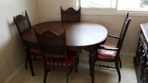 Dining room table, chair's and china cabinet Cambridge Kitchener Area image 1