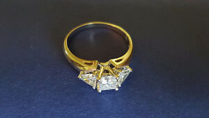 OBO - REDUCED - 1.06 Carat Trinity Diamond Ring