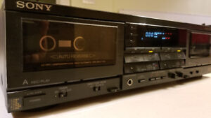 Sony TC-WR810 dual cassette deck (in original box)