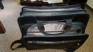 Brand New leather Laptop Briefcase; never used.