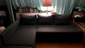 Ikea Lshape sofa bed couch $350
