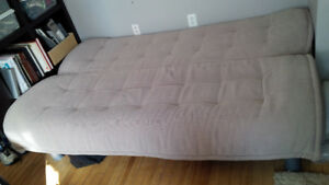 Futon Beige Comfy With Removable Cover