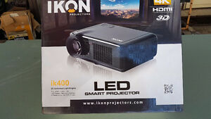 "** $$$$ ** IKON LD Smart Projector, iK400, 3D & 72"" Screen"