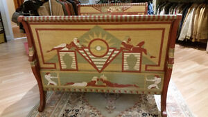 Vintage Sleigh Bed Frame Double Egyptian Motif hand painted Sarnia Sarnia Area image 5