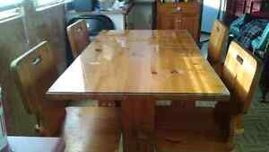 Solid pine kitchen table, chairs, and stand. St. John's Newfoundland image 1