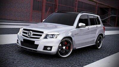 Spoilerlippe Frontspoiler Spoiler Diffusor für Mercedes GLK W204 Schwert Ansatz