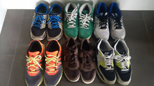 Six pairs of running shoes & sneakers