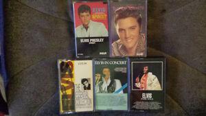 Cassettes audio de Elvis, Madonna, bee gees et Dance