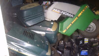 Assorted hoods for lawn tractors