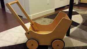 Wooden Push Cart Carriage