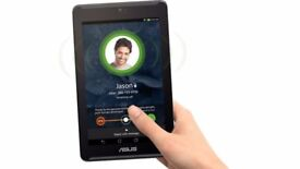ASUS Fonepad 16GB, Wi-Fi + 4G (Unlocked), 7in - Sapphire Black TABLET AND PHONE COMBINED.