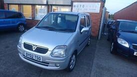 2002 / 02 Vauxhall Agila 1.2 I 16v 5 Door Full MOT+Warranty+AA Cover