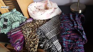 Scarves $10.00 for all! In all new condition!