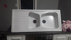 carea double bowl laguna 43x19.5 brand new