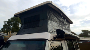 Troopcarrier pop top conversion and camp interior