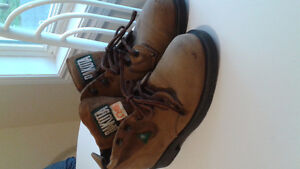 Leather steel toe work boots