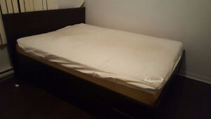 Bed frame with matress