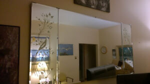 Decor Mirror with etching