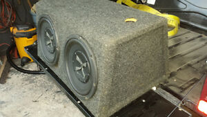 Pair of 10 inch Subs in box