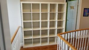 6' x 6' Wall Unit, White, Ikea, Excellent condition.